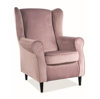 Кресло Signal Baron Velvet Bluvel 52 (античный розовый) - фото 1