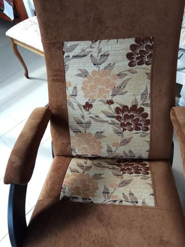 Кресло Бастион 1М глайдер (pearl 108 +цветы) - фото 7