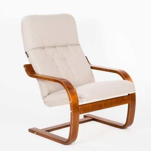 Кресло Greentree Сайма вишня/ткань Миндаль - фото 1