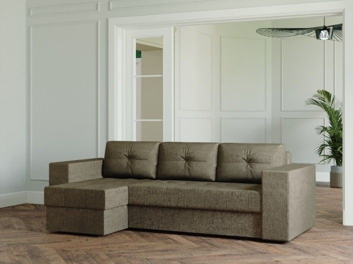 Диван Настоящая мебель Ванкувер Лайт (модель 00-00002721) серо-коричневый - фото 1