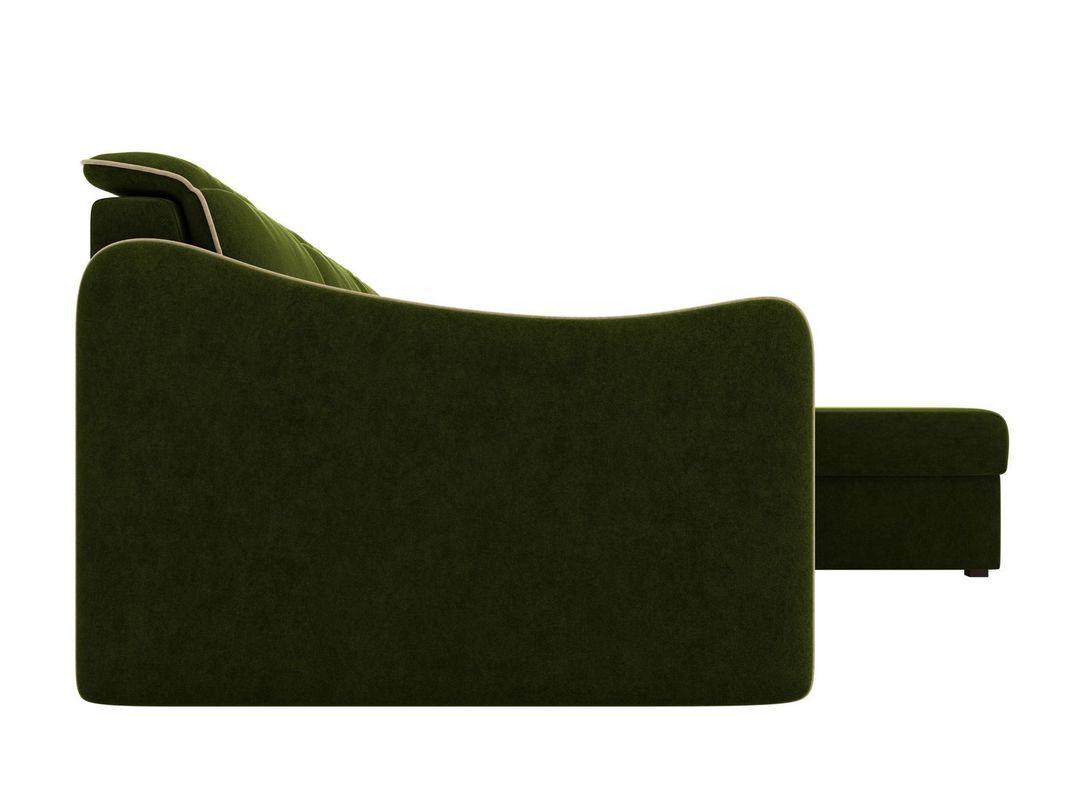 Диван ЛигаДиванов Скарлетт 125 угловой правый 60675 вельвет зеленый - фото 6