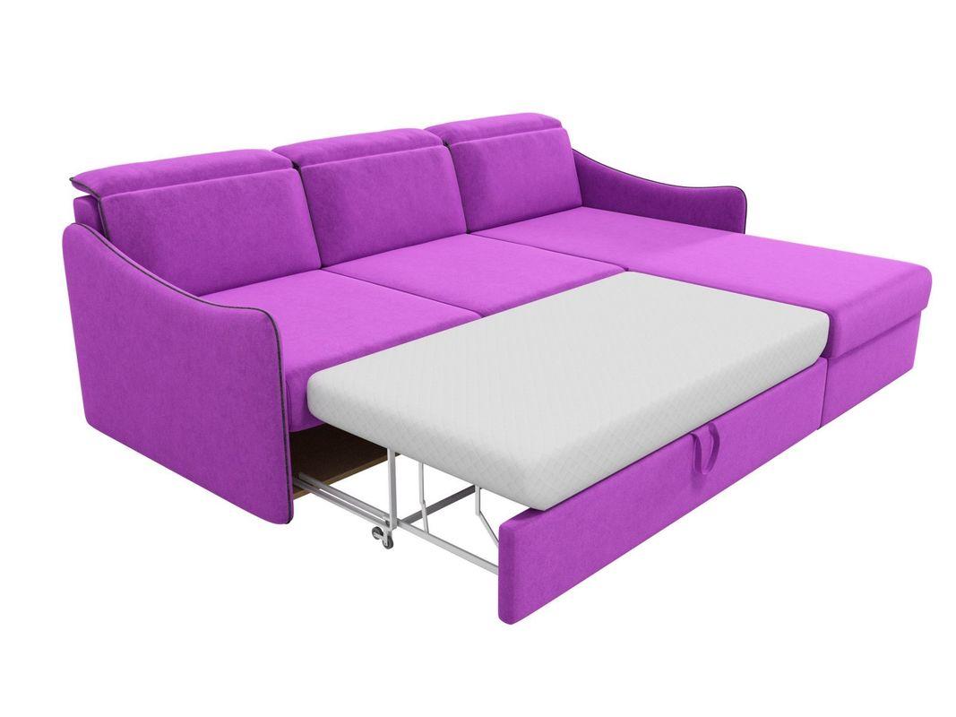Диван ЛигаДиванов Скарлетт 125 угловой правый 60677 вельвет фиолетовый - фото 6