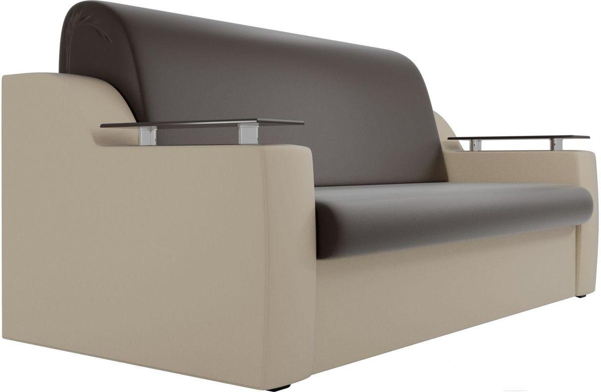 Диван Mebelico Сенатор 100725 100, экокожа коричневый/бежевый - фото 4