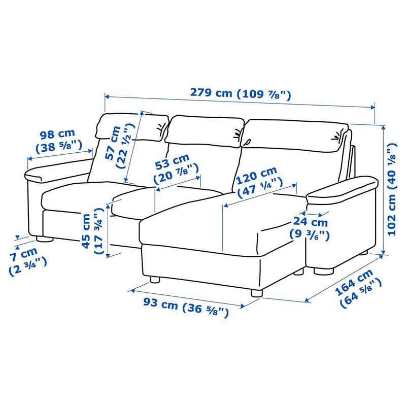 Диван IKEA Лидгульт [492.571.31] - фото 6