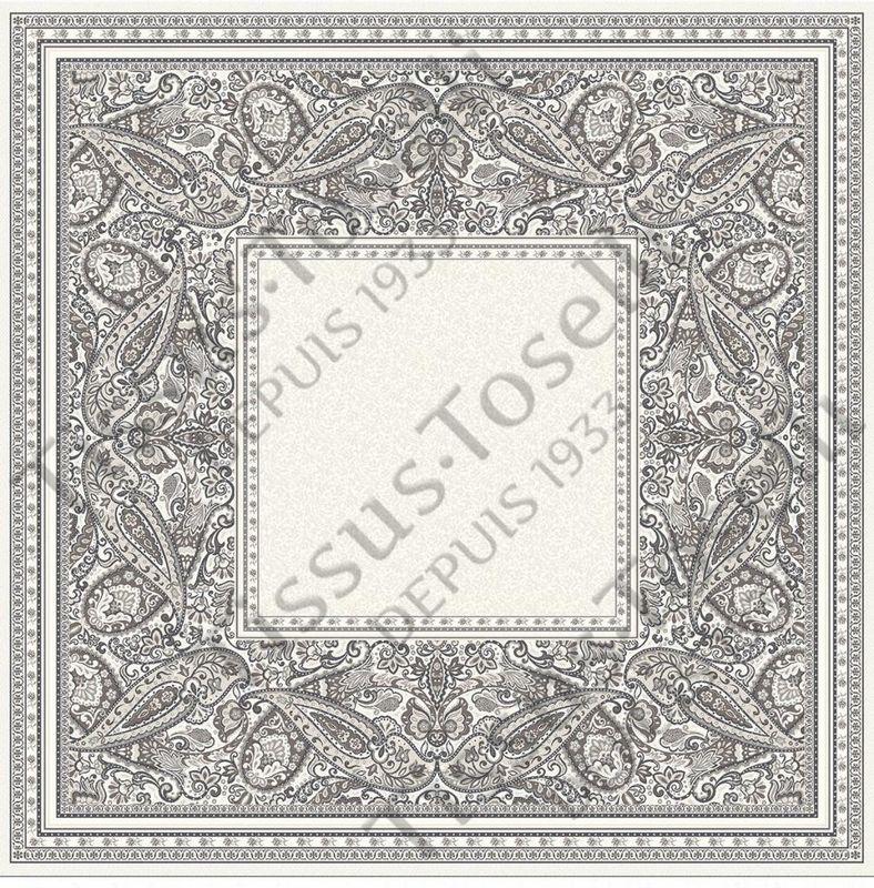 Tissus Toselli Скатерть Cashmir Taupe 145х145 - фото 1