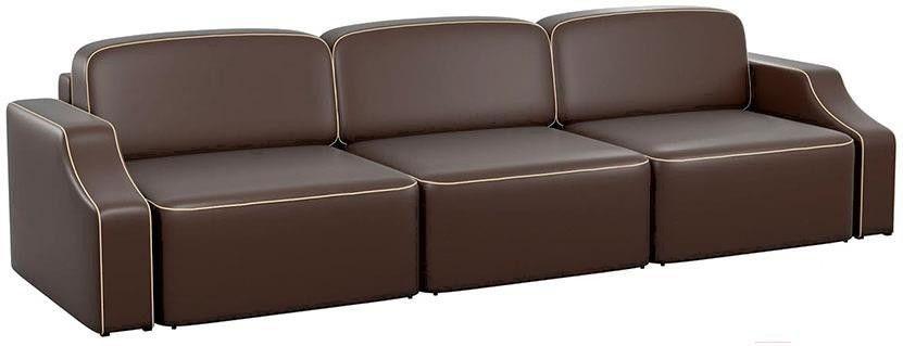 Диван Mebelico Триумф Long Slide 59 экокожа коричневый [59397] - фото 1