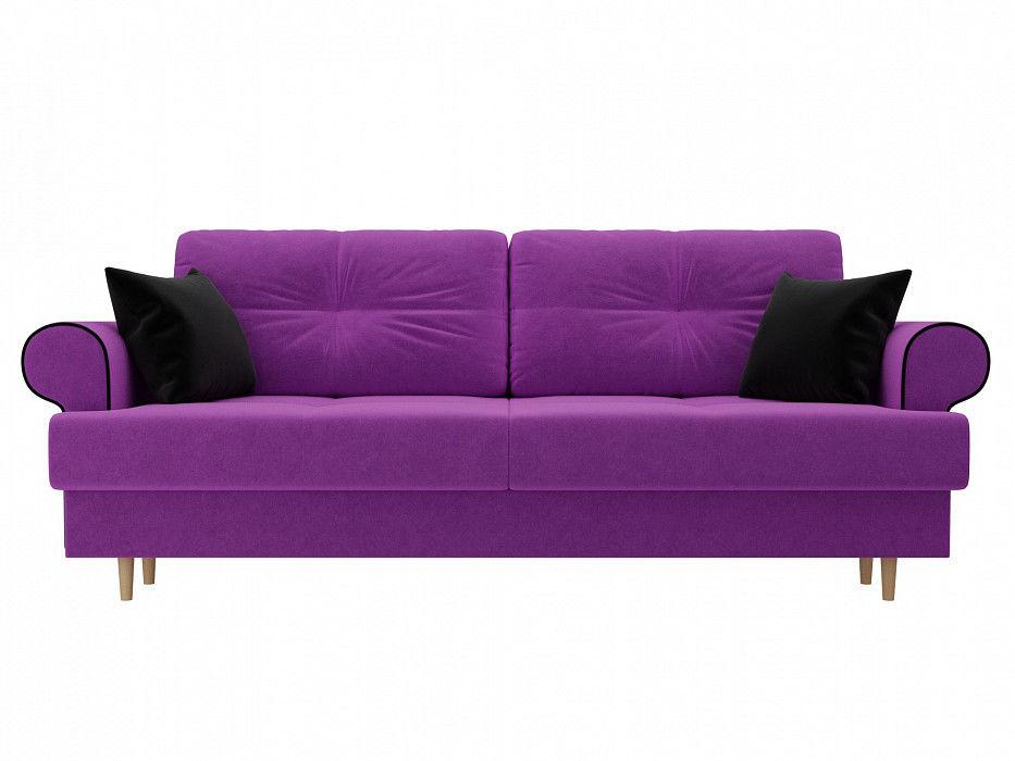 Диван Mebelico Сплин Прямой Микровельвет фиолетовый - фото 3