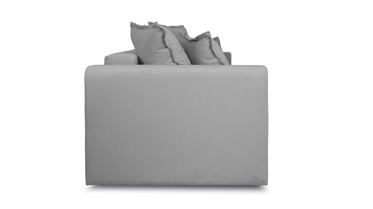 Диван ТриЯ «Раймонд» (Kolibri Silver (велюр) серый подушка Kolibri Cream (велюр) кремовый) - фото 5