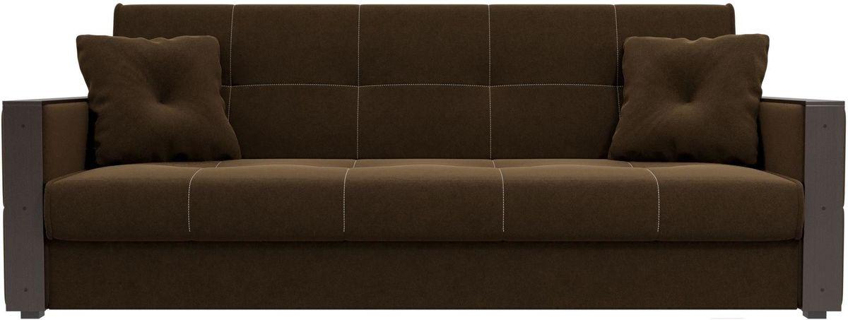 Диван Mebelico Валенсия 100605 микровельвет коричневый - фото 1