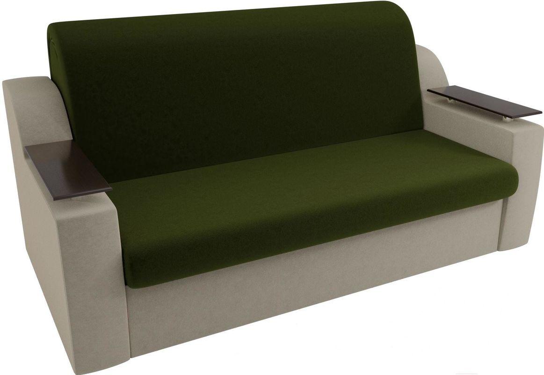 Диван Mebelico Сенатор 100711 160, микровельвет зеленый/бежевый - фото 2