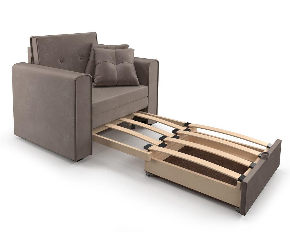 Кресло Мебель-АРС Санта (бархат серо-шоколадный) - фото 6