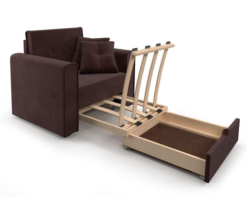 Кресло Мебель-АРС Санта (велюр шоколадный) - фото 7