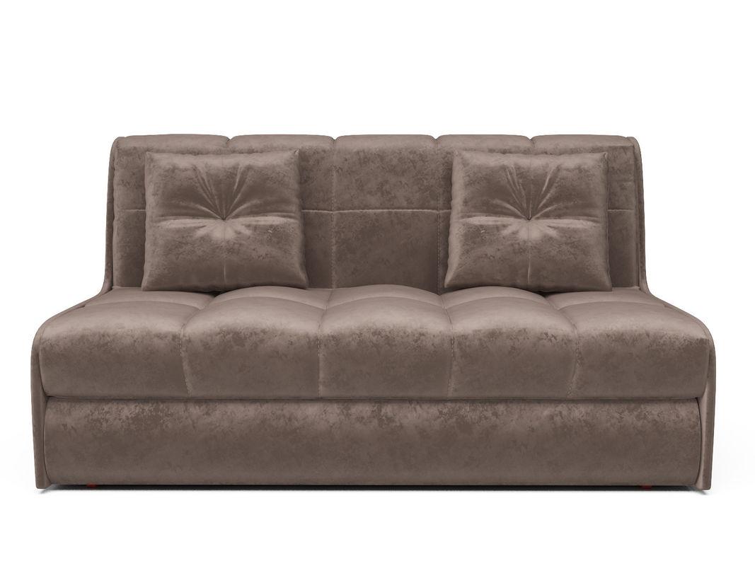 Диван Мебель-АРС Аккордеон Барон №2 (бархат серо-шоколадный  STAR VELVET 60 COFEE) - фото 2