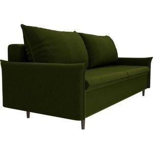 Диван ЛигаДиванов Хьюстон микровельвет зеленый - фото 4
