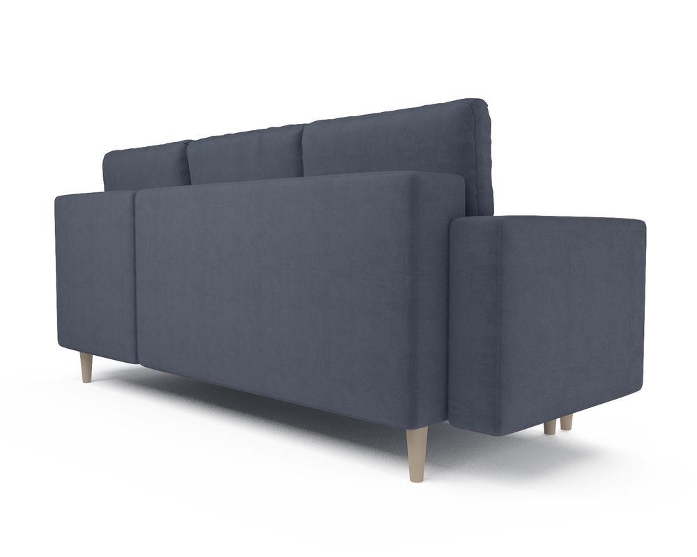 Диван Мебель-АРС Белфаст (велюр серо-синий / НВ-178/26) - фото 4