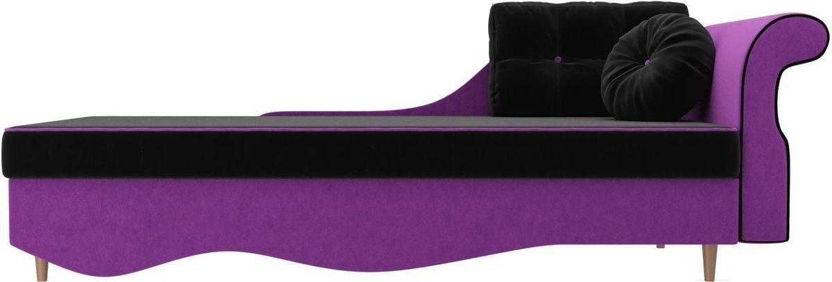 Диван Mebelico Лорд правый 101227 микровельвет черный/фиолетовый - фото 3