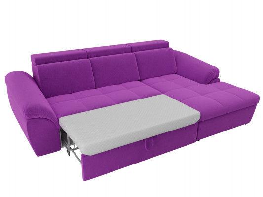 Диван ЛигаДиванов Мисандра угол правый микровельвет фиолетовый - фото 5