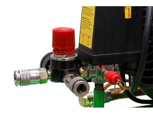 Компрессор ECO AE-705-3 (440 л/мин, 8 атм, коаксиальный, масляный, ресив. 70 л, 220 В, 2.20 кВт) (AE-705-3) - фото 6