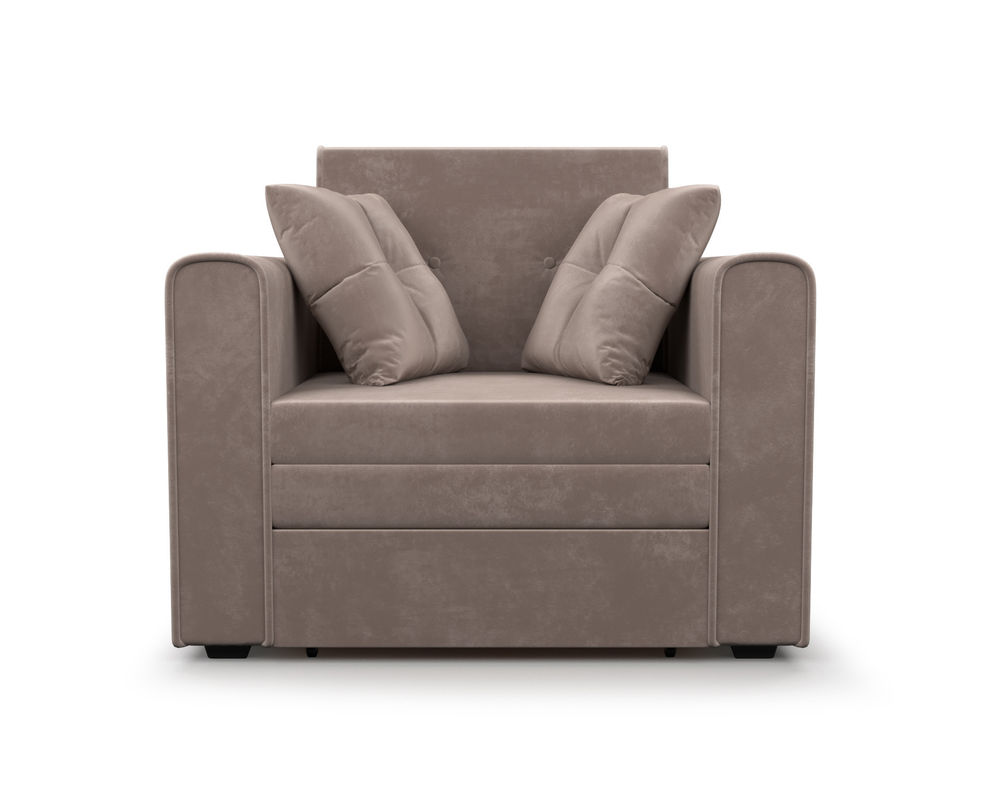 Кресло Мебель-АРС Санта (бархат серо-шоколадный) - фото 2