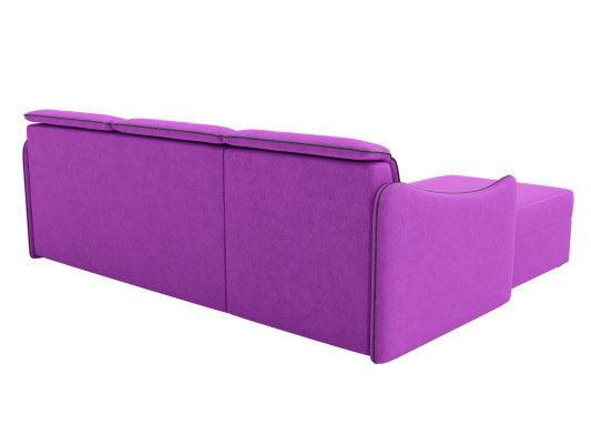Диван ЛигаДиванов Скарлетт 125 угловой левый 60677 вельвет фиолетовый - фото 3
