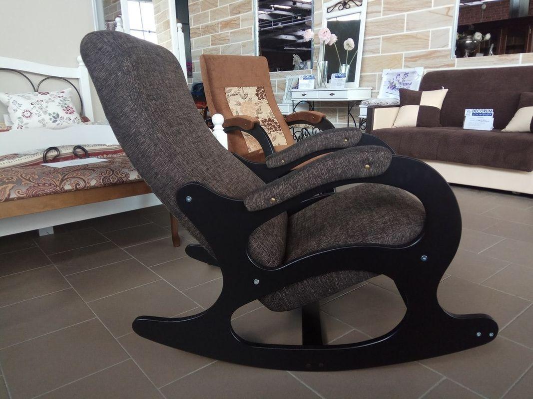 Кресло Бастион 4-2 с подножкой рогожка темная - фото 2