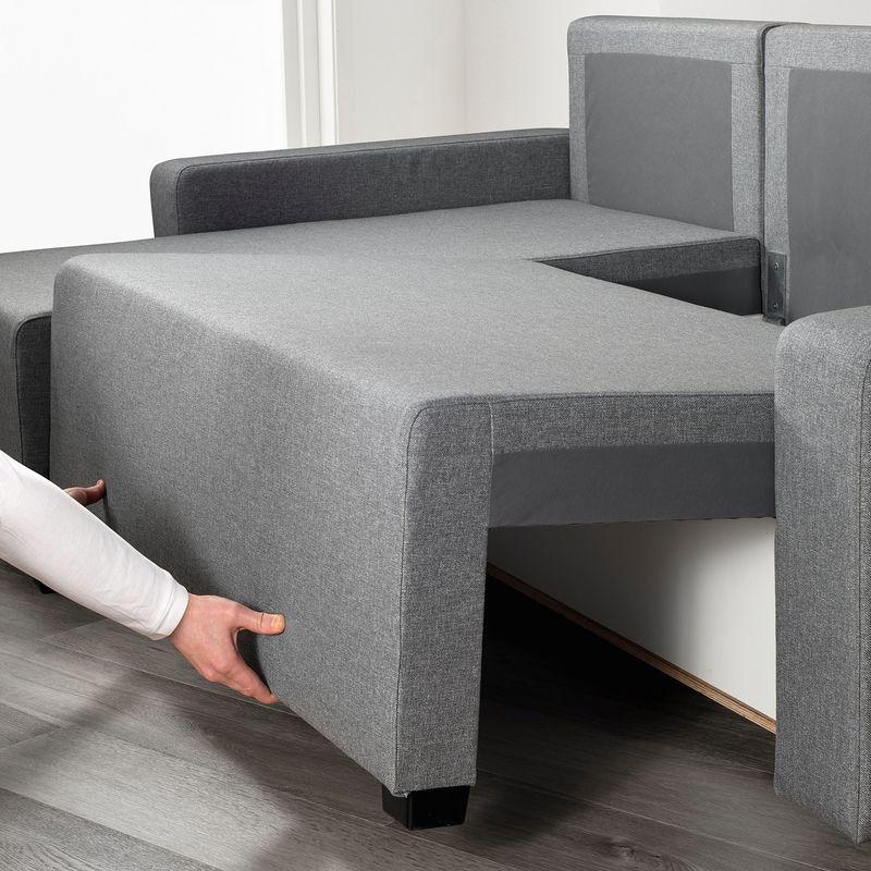 Диван IKEA Гиммарп светло-серый [304.489.04] - фото 4