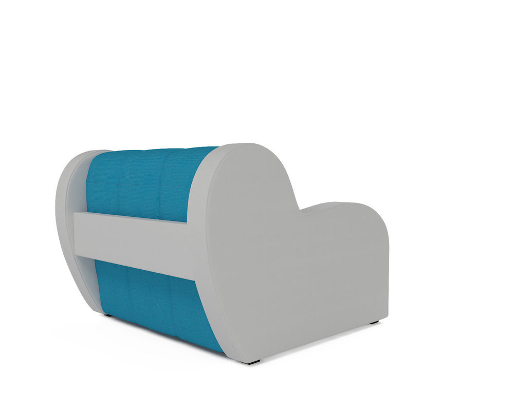 Кресло Мебель-АРС Аккордеон Барон синий (рогожка + экокожа) - фото 4