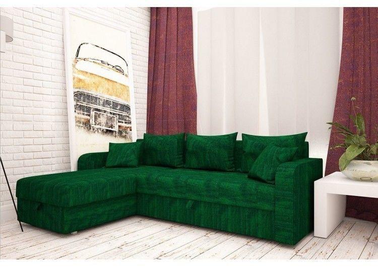 Диван Раевская мебельная фабрика Угловой в ткани Шинил зелёный 00403 - фото 1