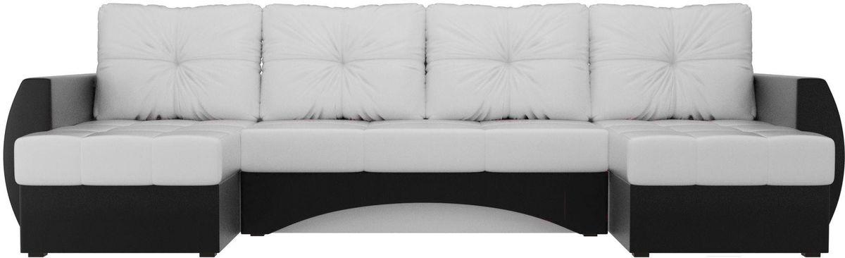 Диван Mebelico Сатурн п-образный экокожа белый/черный [101008] - фото 1