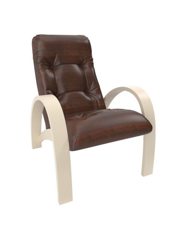 Кресло Impex Модель S7 экокожа сливочный (Vegas lite amber) - фото 1