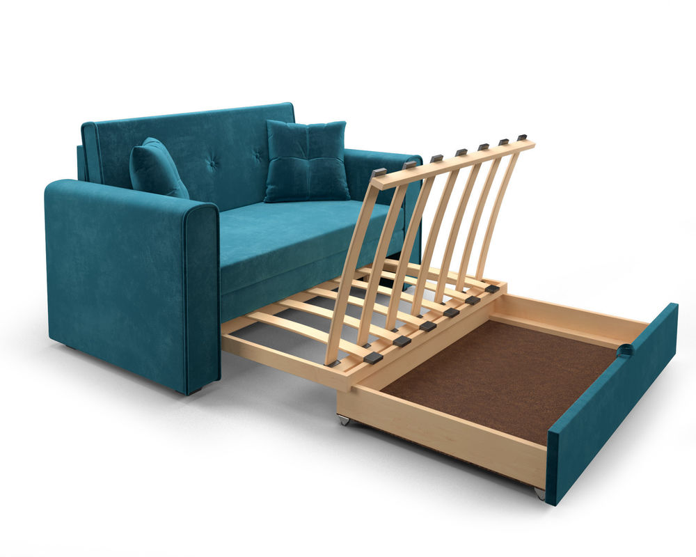 Диван Мебель-АРС Санта (бархат сине-зеленый  STAR VELVET 43 BLACK GREEN) - фото 6