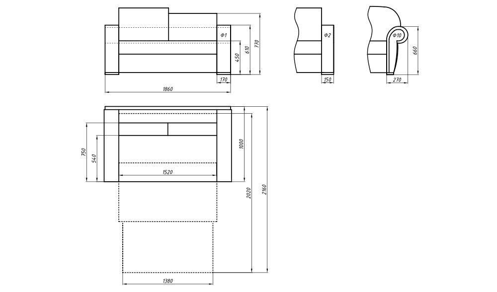 Диван LAMA мебель Пингвин 10П - фото 3