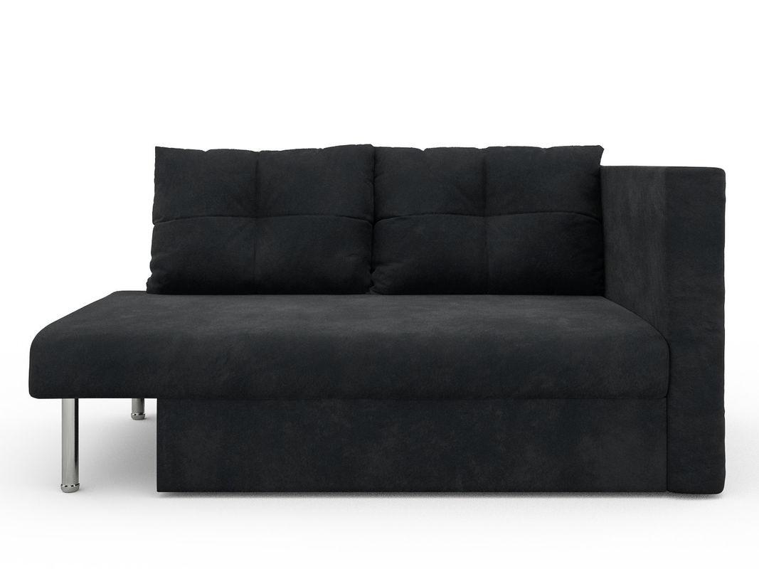Диван Мебель-АРС Алиса (велюр черный / НВ-178/17) - фото 1