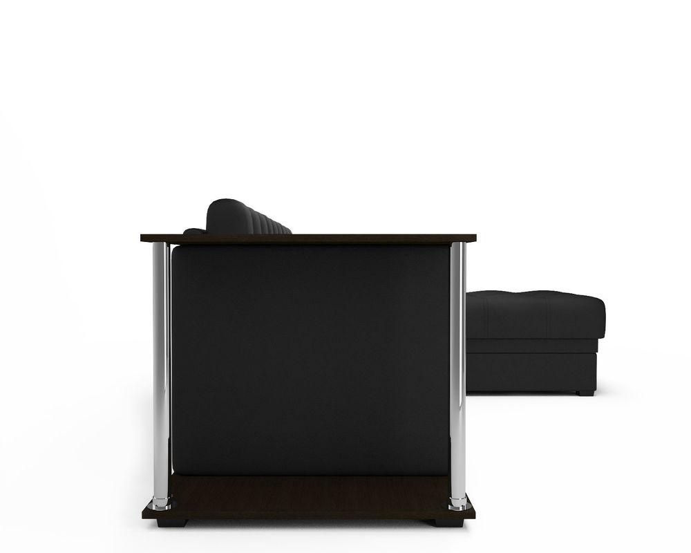 Диван Мебель-АРС Атланта (экокожа черная без полосы) - фото 4