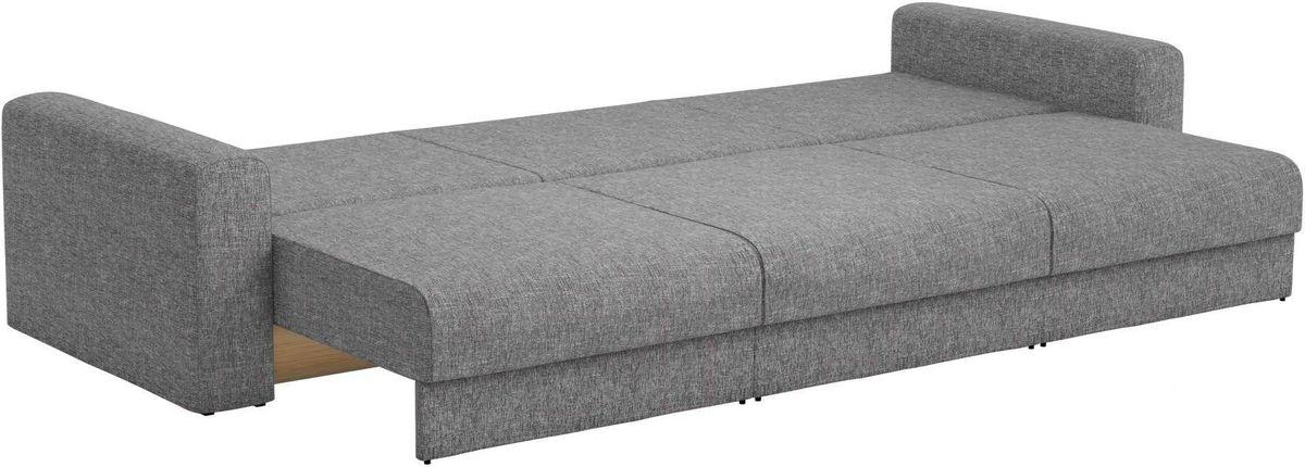Диван Mebelico Мэдисон Long 69 59107/59210 рогожка серая, подушки бежевый/серый - фото 2