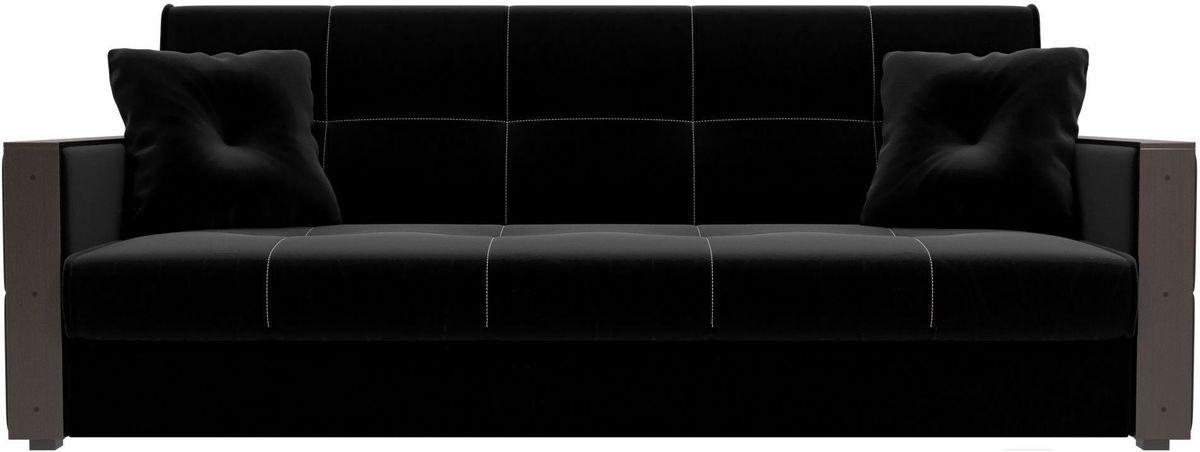 Диван Mebelico Валенсия 100606 микровельвет черный - фото 1