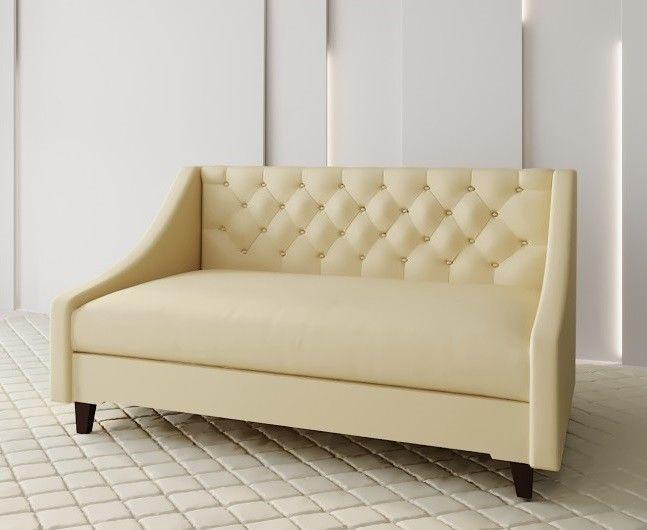 Диван Луховицкая мебельная фабрика Мальта 2 (рогожка кремовая) 145x80 - фото 1