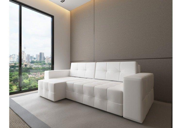 Диван Настоящая мебель Константин Питсбург угловой белый - фото 1