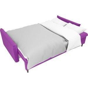 Диван ЛигаДиванов Хьюстон микровельвет фиолетовый - фото 5