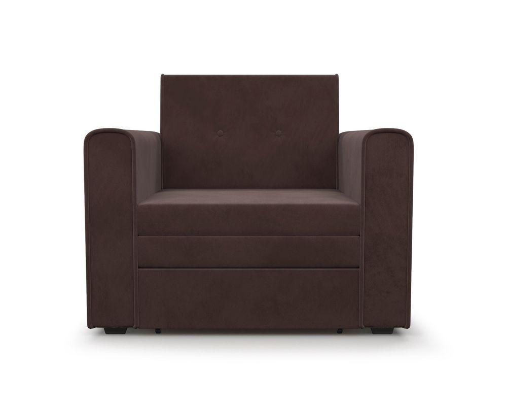 Кресло Мебель-АРС Санта (велюр молочный шоколад / НВ-178/13) - фото 3