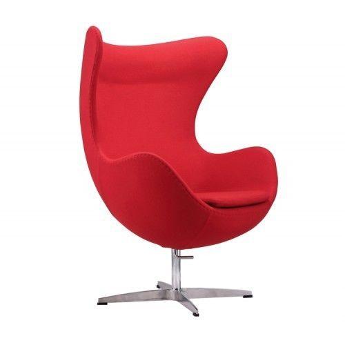 Кресло Альта Мебель Яйцо EGG (кашемир) красный - фото 1