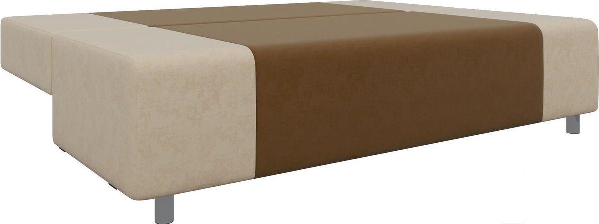 Диван Mebelico Чарли 63 микровельв. коричневый/бежевый - фото 3