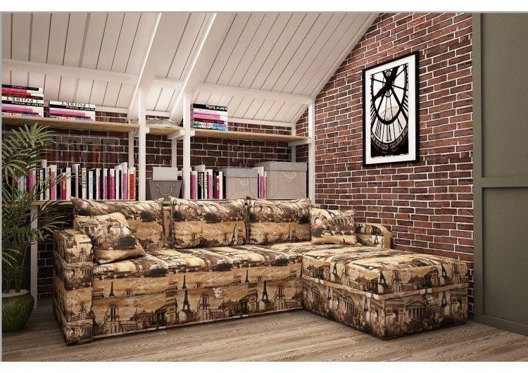 Диван Раевская мебельная фабрика Угловой в ткани микровелюр Париж 00469 - фото 1
