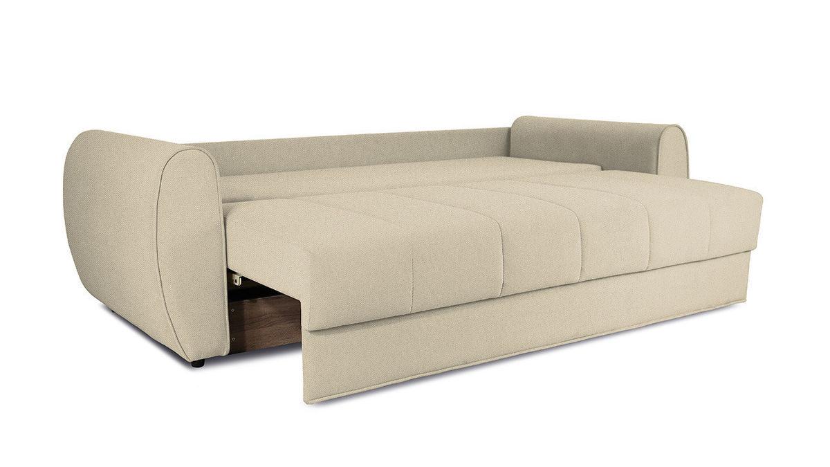 Диван ТриЯ «Бернард» (Neo 02 (рогожка) бежевый подушка Neo 04 (рогожка) светло-коричневый) - фото 6