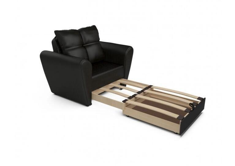 Кресло Craftmebel Квартет - экокожа черная - фото 3
