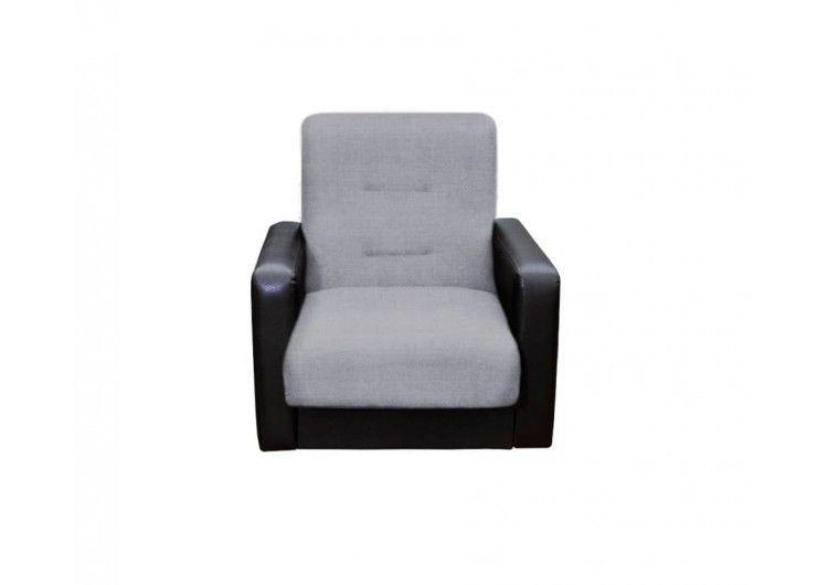 Кресло Луховицкая мебельная фабрика Лондон рогожка серая (комби) - фото 1