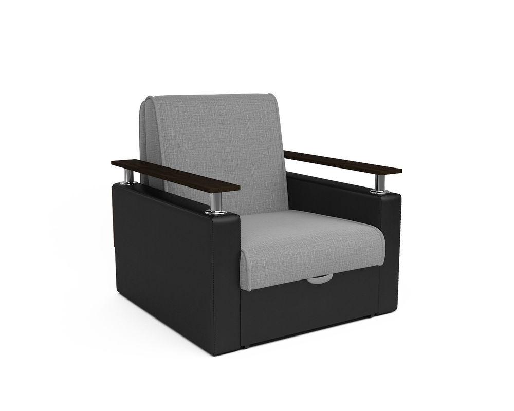 Кресло Мебель-АРС Шарм - Grey (рогожка + экокожа) - фото 1