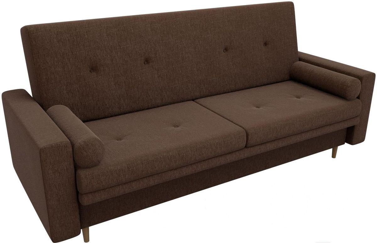 Диван Mebelico Белфаст 100596 рогожка коричневый - фото 2