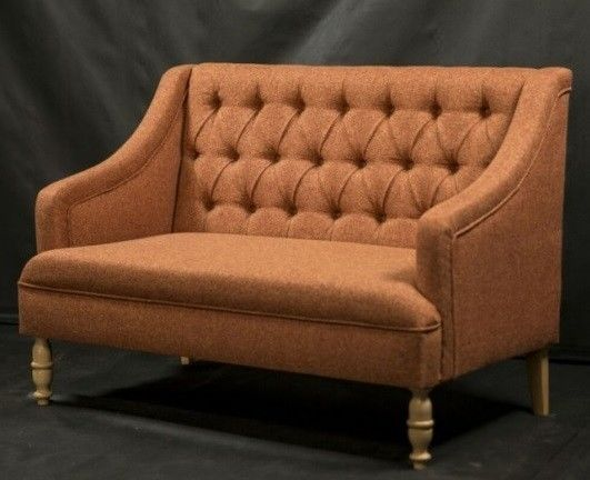 Диван Луховицкая мебельная фабрика Мальта 1 (рогожка коричневая) 145x80 - фото 1
