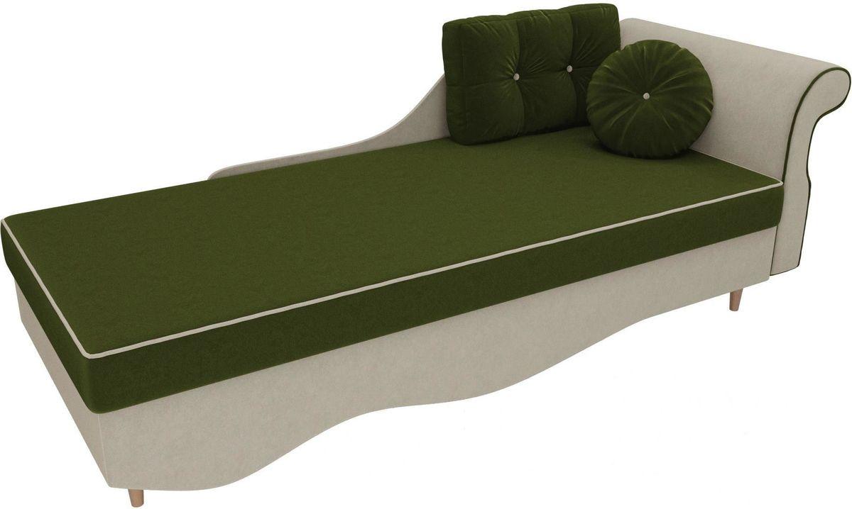 Диван Mebelico Лорд правый 101222 микровельвет зеленый/бежевый - фото 2